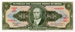 C114 - 1 Centavo (Carimbo sob 10 Cruzeiros) - Série Aleatória - Getúlio Vargas - Data: 1967 - Estado de Conservação: Soberba/Flor ( Sob/Fe)