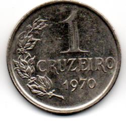 1970 - 1 Cruzeiro - Moeda Brasil - Estado de Conservação: Muito Bem Conservada (MBC)
