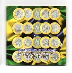 Cartela Vazia - para uma Moeda de 1 Real das Olimpíadas - VAZIA - c/ capa