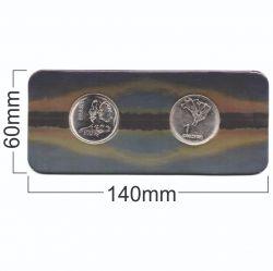 Cartela Vazia -  P/ moedas do Sesquicentenário da Independência do Brasil - p/ 2 moedas 1972 - Frente e Verso - VAZIA