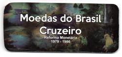 Cartela Vazia - para Moedas do Cruzeiro - 1979 - 1986 - VAZIA