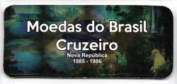 Cartela Vazia - para Moedas do Cruzeiro 1985 - 1986 - VAZIA