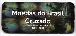 Cartela Vazia - para Moedas do Cruzado - 1986 - 1988 - VAZIA