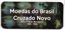 Cartela Vazia - para Moedas do Cruzado Novo - 1989 -1990 - VAZIA