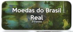 Cartela Vazia - para Moedas do Brasil Real - 2° Família - VAZIA