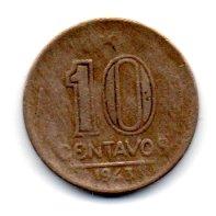 1943 - 10 Centavos - Níquel Rosa - Moeda Brasil - Estado de Conservação: Bem Conservada (BC)