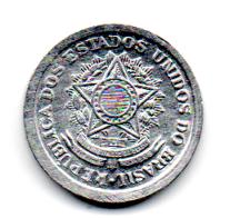 1957 - 10 Centavos - Moeda Brasil - Estado de Conservação: Soberba/Flor (Sob/Fc)