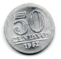 1957 - 50 Centavos - Moeda Brasil - Estado de Conservação: Soberba/Flor (Sob/FC)