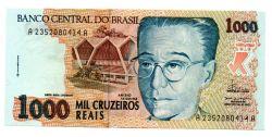 C238 - 1000 Cruzeiros Reais - Anísio Teixeira - Data: 1993 - Estado de Conservação: Flor de Estampa (Fe)