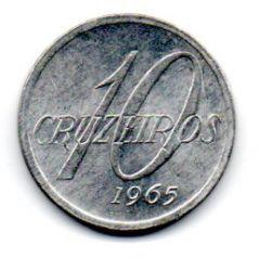 1965 - 10 Cruzeiros - Moeda Brasil - Estado de Conservação: Soberba/Flor (Sob/FC)