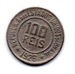 1926 - 100 Réis - Moeda Brasil - Estado de Conservação: Muito Bem Conservada (MBC)