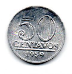 1959 - 50 Centavos - Moeda Brasil - Estado de Conservação: Soberba/Flor (Sob/Fc)