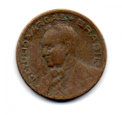 1943 - 20 Centavos - Níquel Rosa - Moeda Brasil - Estado de Conservação: Regular (R)