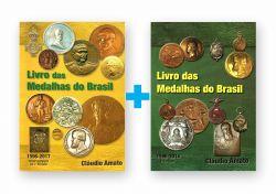 2 Livros - Catálogos Livros das Medalhas do Brasil  + Complemento - 1° Edição 2017- Amato