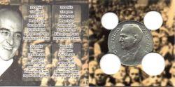 Cartela Vazia - P/ Moedas da Série de Réis de 1938 - 100 - 200 - 300 - 400 réis - Getúlio Vargas - Brasil - c/ capa