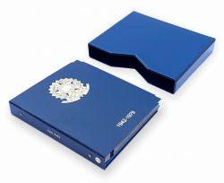 Álbum Luxo  n° 2 - 1942-1979 p/ Moedas C/ Capa - Cor Azul Escuro
