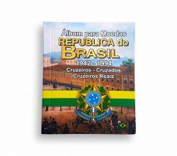 Álbum para Moedas Republica do Brasil 1942-1994 Cruzeiro Cruzados Cruzeiros Reais - Vazio