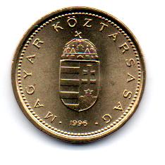 Hungria - 1996 - 1 Forint - 16,3mm