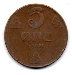 Noruega - 1921 - 5 Ore - 27mm