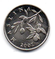 Croácia - 2007 - 20 Lipa - 18,5mm - Sob