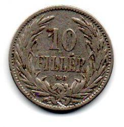 Hungria - 1895 - 10 Fillér - 19mm