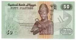 Egito - 50 Piastres - Flor de Estampa