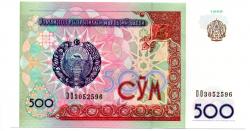 Uzbequistão - 1999 - 500 S