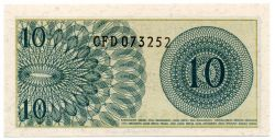 Indonésia - 10 Rupias - Cédula Flor de Estampa