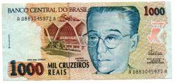 C238 - 1000 Cruzeiros Reais - Anísio Teixeira - Data: 1993 - Estado de Conservação: Mbc/Sob