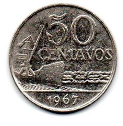 1967 - 50 Centavos - Moeda Brasil - Estado de Conservação: Muito Bem Conservada (MBC)