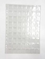 20 Folhas de 63 Espaços  p/ Moedas Pequenas - Com Abas - Material: PVC