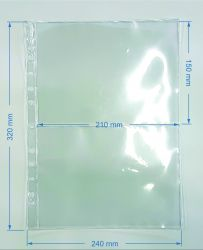 50 Folhas de 2 Espaços p/ Cédulas - Material: Acetato