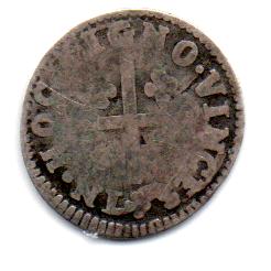 Portugal - 1799-1816 (data não cunhada) - 50 Réis - 1/2 Tostão - Obs.: Cunhada como XXXX Réis - Prata .917 - Aprox 1.53g - 17mm