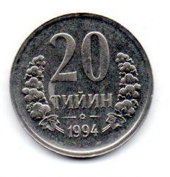 Uzbequistão - 1994 - 20 Tiyin - Sob