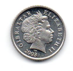 Gibraltar - 2003 - 5 Pence - Sob/Fc