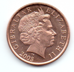 Gibraltar - 2003 - 2 Pence - Sob/Fc