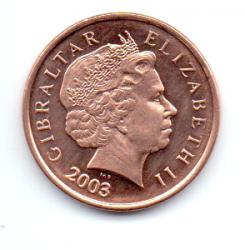 Gibraltar - 2003 - 1 Penny - Sob/Fc