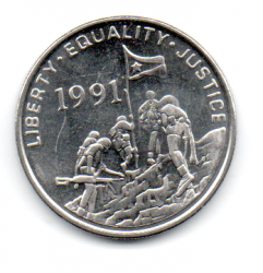 Eritreia - 1997 - 50 Cents - Sob/Fc