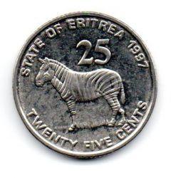 Eritreia - 1997 - 25 Cents - Sob/Fc