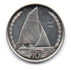Ilha do Homem - 1998 - 10 Pence - Sob/Fc