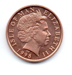 Ilha do Homem - 1998 - 1 Penny - Sob/Fc