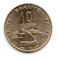 Djibouti - 1991 - 10 Francs - Sob/Fc