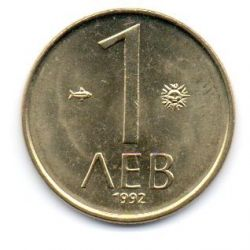 Bulgária - 1992 - 1 Leva - Sob/Fc