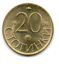 Bulgária - 1992 - 20 Stotinki - Sob/Fc