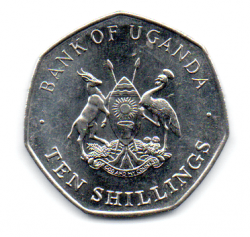 Uganda - 1987 - 10 Shillings - Sob/Fc