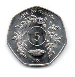 Uganda - 1987 - 5 Shillings - Sob/Fc