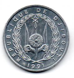 Djibouti - 1991 - 5 Francs - Sob/Fc