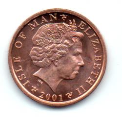 Ilha do Homem - 2001 - 1 Penny - Sob/Fc