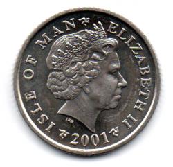 Ilha do Homem - 2001 - 10 Pence - Sob/Fc