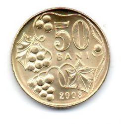 Moldávia - 2008 - 50 Bani - Sob/Fc